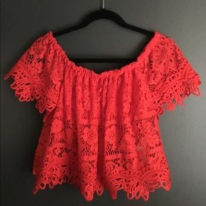 Free People Sweet Dreams Lace Top (XS)